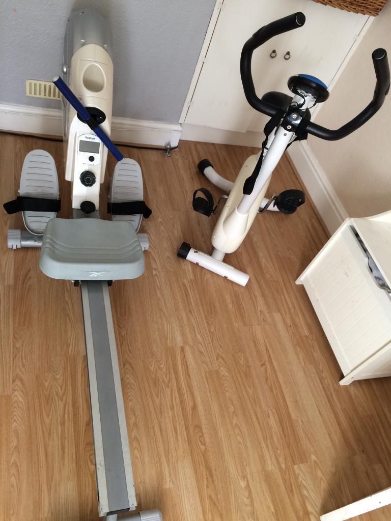 Rowing and bike machine