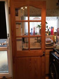 Two interior Pine doors