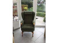 HSL Helmsley fireside chair in 'boucle fenna'