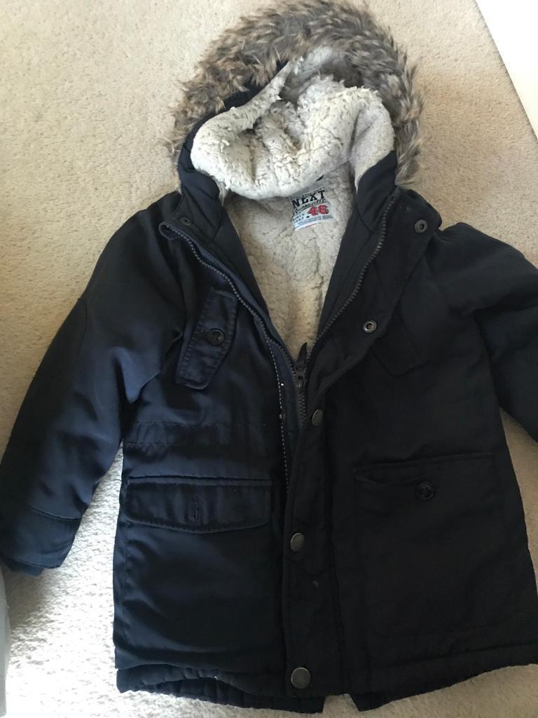 Boys winter navy coat next