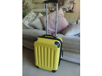 Yellow; Cabin-Hand-Luggage-Suitcase 4 Wheeled