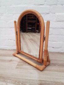 Bamboo Dressing Table Mirror (DELIVERY AVAILABLE FOR THIS ITEM OF FURNITURE)