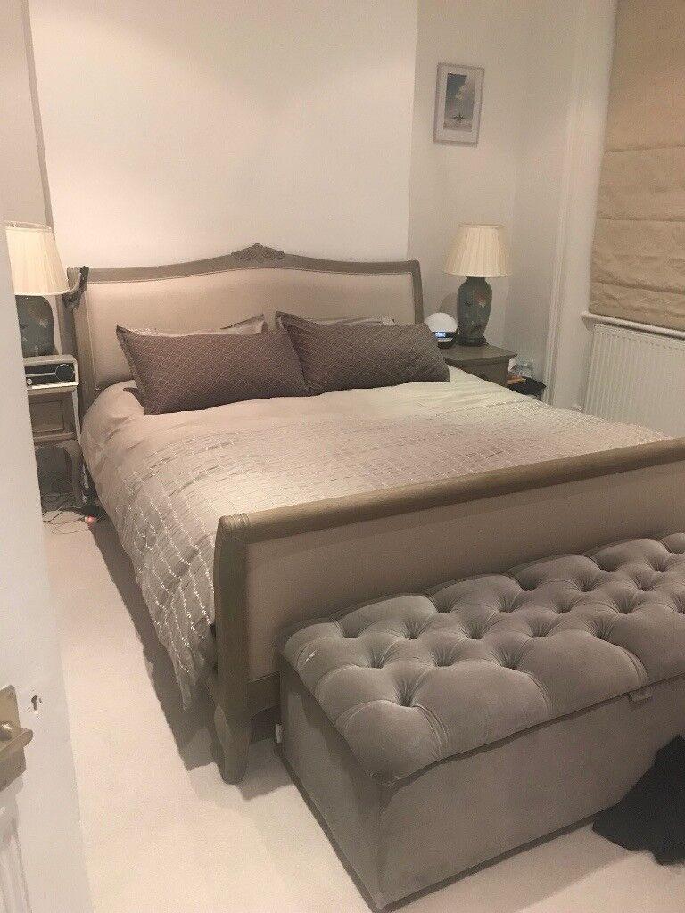 Super King size oak John Lewis bed frame and Warren Evans mattress, great condition