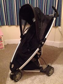 Quinny Zapp pushchair with basket and footmuff - great condition