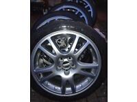 Subaru V7 Sti wheels