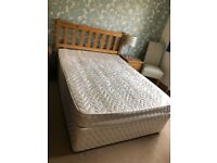 Double Divan Bed with Mattress and Headboard