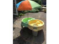 Step2 water and sand table with umbrella