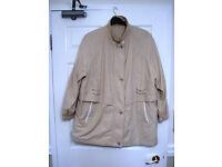 C&A beige/cream coat size 22S