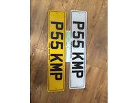 P55 KMP private cherished personalised registration plate number cheap