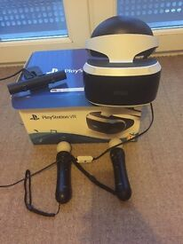 PSVR headset, PlayStation move controllersx2 playstation camera