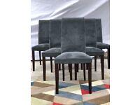 Ligne Roset Dining Chairs Dark Grey x6 | RRP £4,660