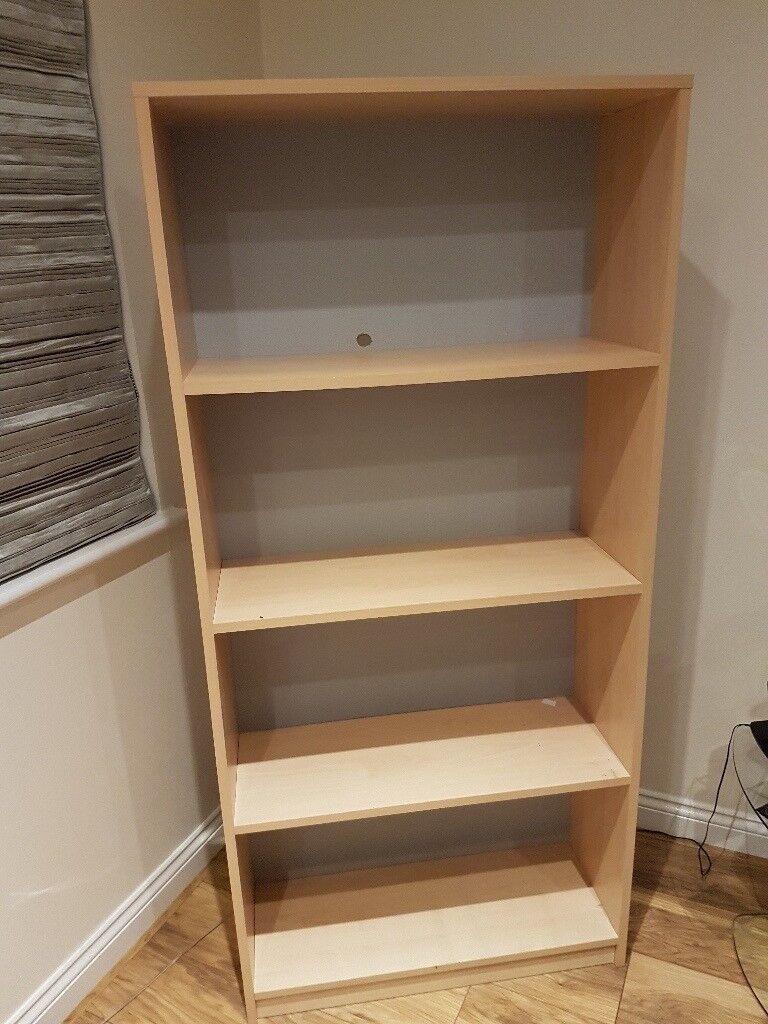 Beech Bookshelf 4 Shelves Height 1650cm Depth 300cm Width 780cm