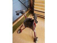 Mobility walker 3 wheeled