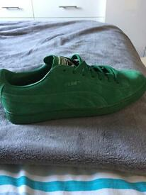 Puma Suede Green UK mens 9 Trainers