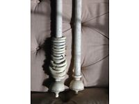Large white wooden traditional curtain pole ideal for a large window