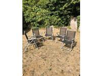 Garden Chairs Foldable Metallic ( X 5 )