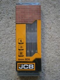 JCB SDS PLUS Drill Bits 6mm x 160mm Pack of 10