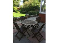 *Now gone thanks for the enquiries*Garden table and 4 chairs
