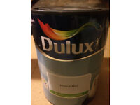 Dulux 5 Litre - Mineral Mist - Emulsion, Full tin, opened once.