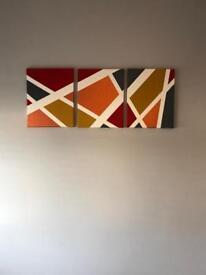 Geometric Canvas Painting