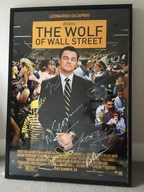 Wolf Of Wall Street - SIGNED MOVIE POSTER - Signed by 13 - Leo Dicaprio, Martin Scorcese, Jonah Hill