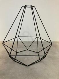 IKEA BRUNSTA Black Pendant Wire Lamp Shade, 35 cm