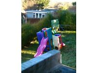 little tikes double slide climbing frame