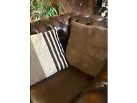 X6 cushions £5 (X3 brown suede and x3 mix browns)