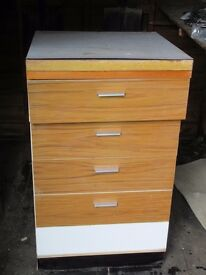 Set of kitchen drawers