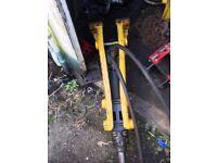 hydraulic breaker/pecker indeco hp150hd 2 headstocks & 3buckets