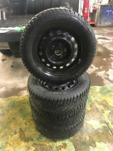 195 65R 15 GENERAL ALTIMAX WINTER SNOW TIRES ON RIMS 5X114.3 BOLT 9/32 TREAD TOYOTA HYUNDAI KIA MAZDA FORD NISSAN