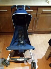 Good Condition Micralite Navy Buggy with Feet Warmer and Rain Protector in Original Box