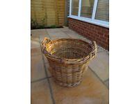 Vintage willow log basket