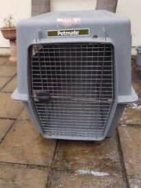 Petmate giant dog transoorter airline approved . Makes great indoor crate/kennel/cage