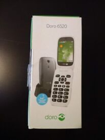 Mobile phone Doro 6520 clamshell white---Brand new!