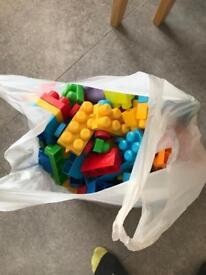 Bag of Lego blocks