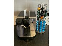 Delonghi Nespresso Coffee Machine + 38 Capsules + Chrome Holder