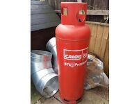 Full 47 kg propane gas bottle