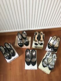 Selection of ladies size 8 black shoes in good condition - £5 per pair
