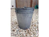 Galvanised steel potting buckets