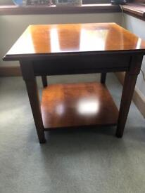 2 x WOOD SIDE TABLES