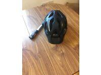 Bike helmet and mini pump