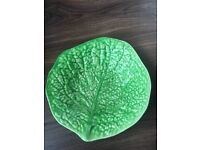Cabbage leaf shaped bowl dish