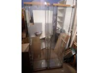 Retail tempered glass display units x 2