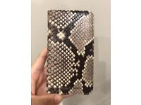 Michael Kors snake print leather phone case