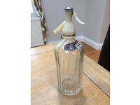 Vintage Retro Schweppes Soda Siphon/Syphon Glass Bottle