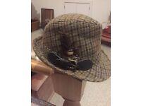M&S tweed trilby hat