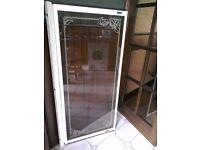 original showerlux shower door , curtain & rings.