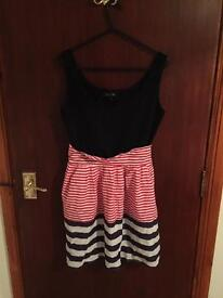 Striped dress size medium/large