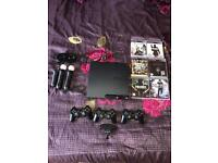 SONY PS3 Slim Black - BIG BUNDLE! With games and Move Motion